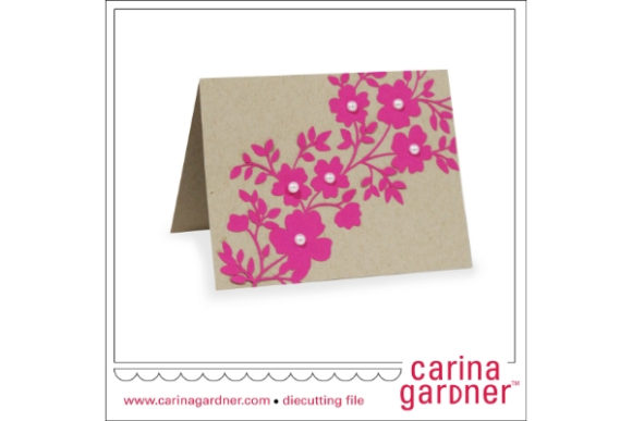 Download Free Floral Trellis Card Graphic By Carina2 Creative Fabrica for Cricut Explore, Silhouette and other cutting machines.