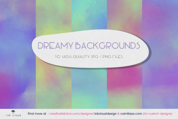 Print on Demand: 5 Pastel Texture Background Patterns Graphic Backgrounds By Inkclouddesign