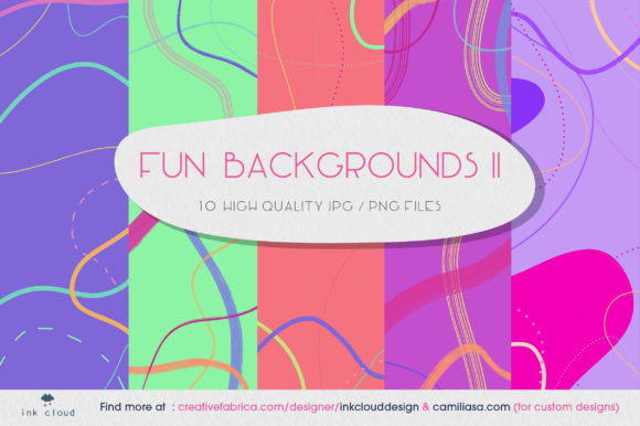 Download Free 5 Texture Background Colorful Patterns Graphic By Inkclouddesign for Cricut Explore, Silhouette and other cutting machines.