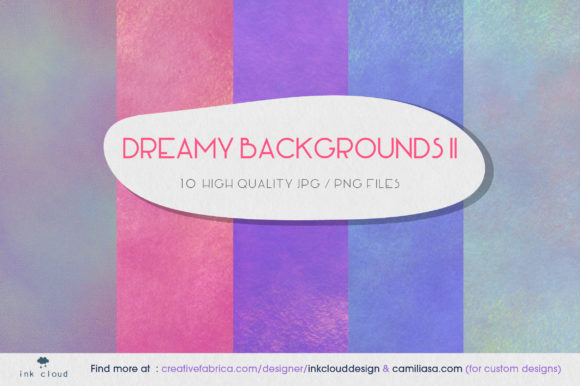 Print on Demand: 5 Texture Background Colorful Patterns Graphic Backgrounds By Inkclouddesign