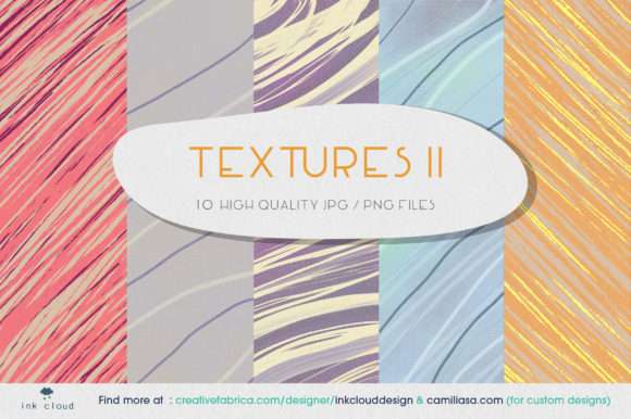 Print on Demand: 5 Texture Background Colorful Prints Graphic Backgrounds By Inkclouddesign