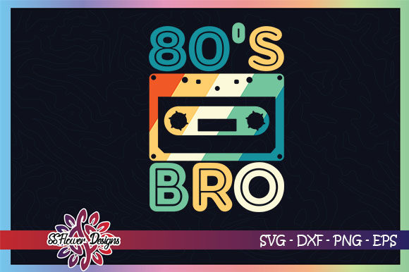 Download Free 80 S Bro Vintage Cassette Graphic By Ssflower Creative Fabrica for Cricut Explore, Silhouette and other cutting machines.