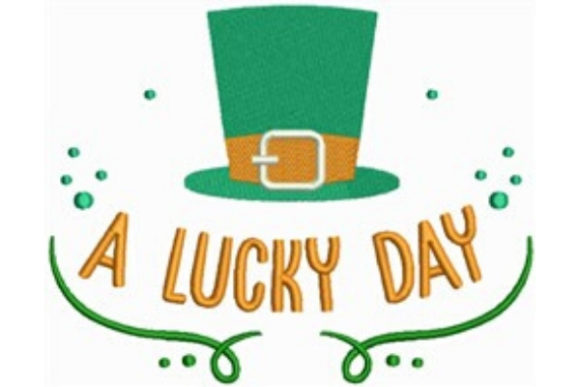 A Lucky Day St Patrick's Day Embroidery Design By designsbymira