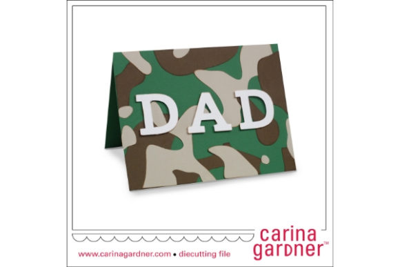 A2 Dad Camo Card Graphic 3D SVG By carina2