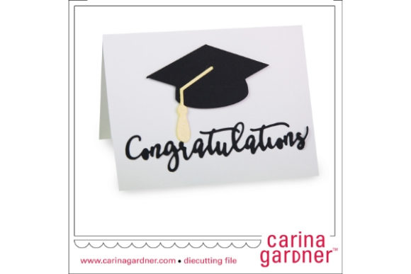 A2 Graduation Card Graphic 3D SVG By carina2