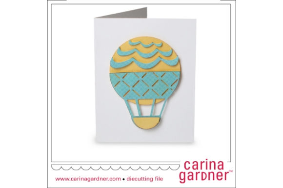 Download Free A2 Hot Air Balloon Card Graphic By Carina2 Creative Fabrica for Cricut Explore, Silhouette and other cutting machines.