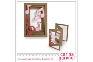 Accordion Musical Notes Card Graphic 3D SVG By carina2