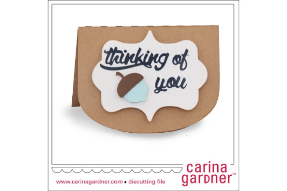 Download Free Acorn Card Graphic By Carina2 Creative Fabrica for Cricut Explore, Silhouette and other cutting machines.