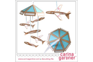Airplane Mobile Graphic 3D SVG By carina2