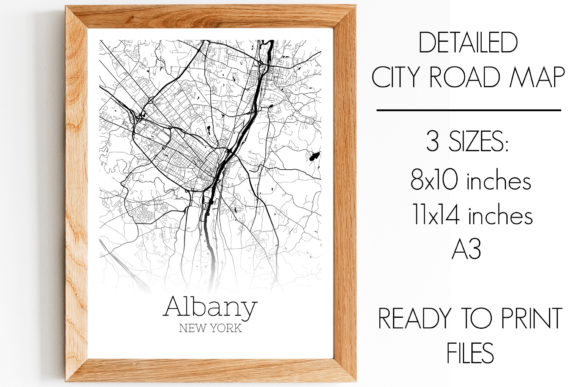 Download Free Albany New York City Map Graphic By Svgexpress Creative Fabrica SVG Cut Files