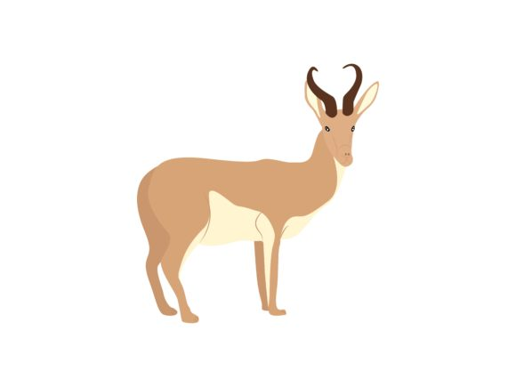Download Free Antelope Animal Graphic By Archshape Creative Fabrica for Cricut Explore, Silhouette and other cutting machines.