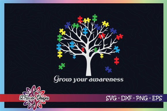 Autism Tree Puzzle Graphic By Ssflower Creative Fabrica