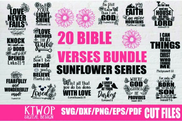 Print on Demand: Bible Verse Jesus Bundle Gráfico Crafts Por Mr.pagman