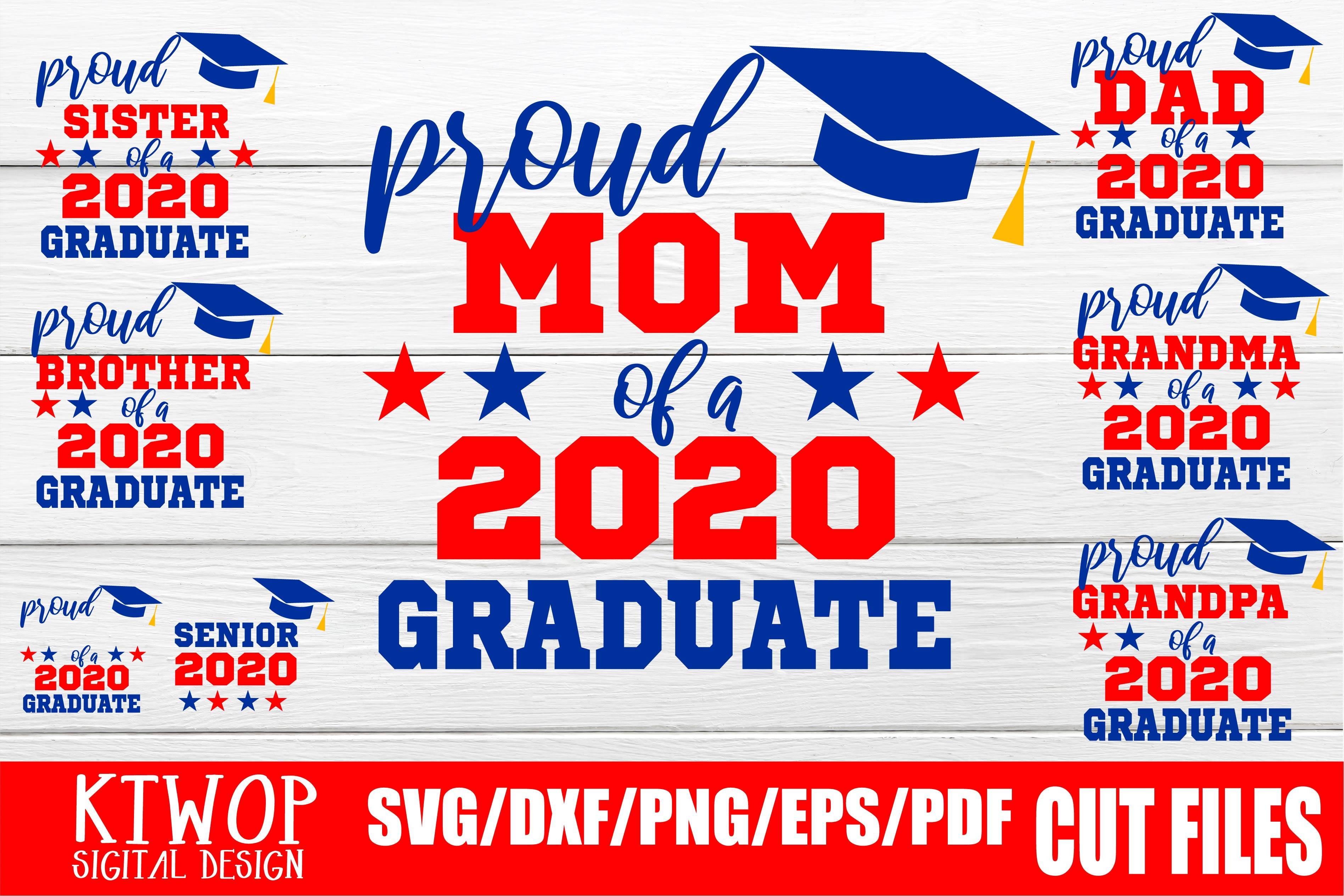 Download Free Bundle Graduation Senior 2020 Quarantine Graphic By Ktwop for Cricut Explore, Silhouette and other cutting machines.