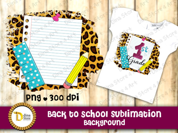 Print on Demand: Back to School Sublimation Background Graphic Backgrounds By dina.store4art