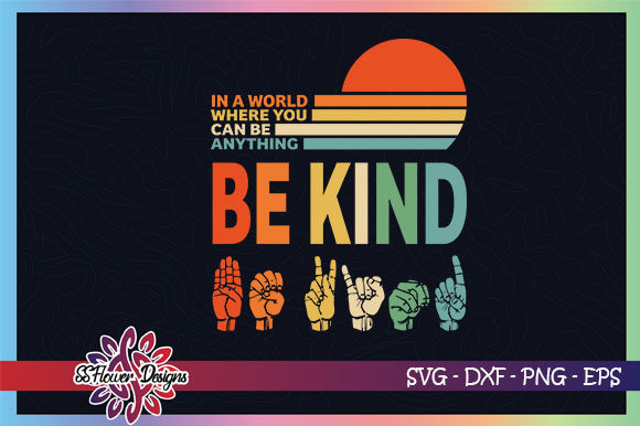 Bekind Vinatge Design, Peace Sign Graphic Crafts By ssflower