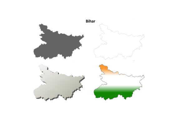 Download Free Bihar Outline Map Set Graphic By Davidzydd Creative Fabrica for Cricut Explore, Silhouette and other cutting machines.