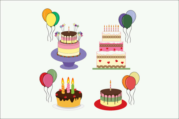 Download Free Birthday Cake Graphic By Curutdesign Creative Fabrica for Cricut Explore, Silhouette and other cutting machines.