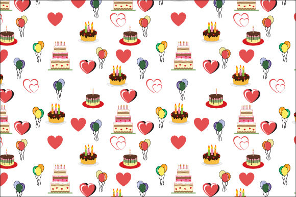 Download Free Birthday Cake Pattern Graphic By Curutdesign Creative Fabrica for Cricut Explore, Silhouette and other cutting machines.