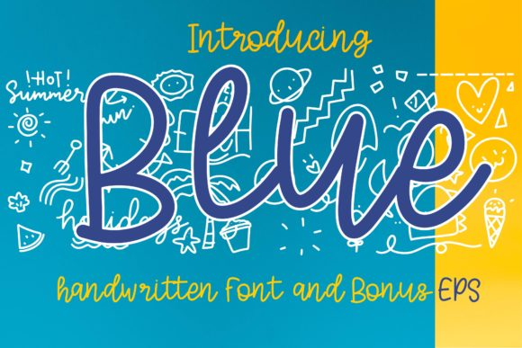Print on Demand: Blue Display Font By Mr.pagman