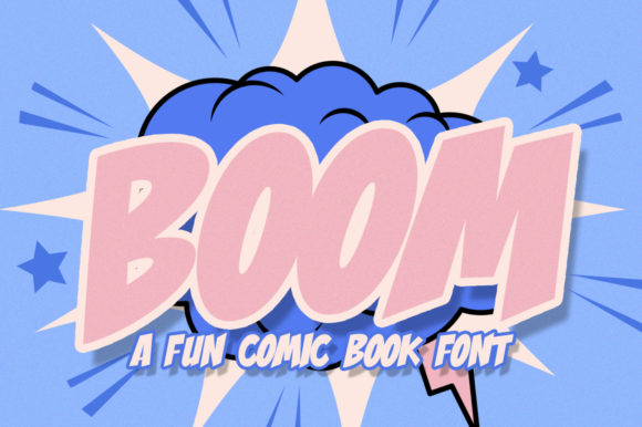 Print on Demand: Boom Comic Display Schriftarten von Salt & Pepper Designs