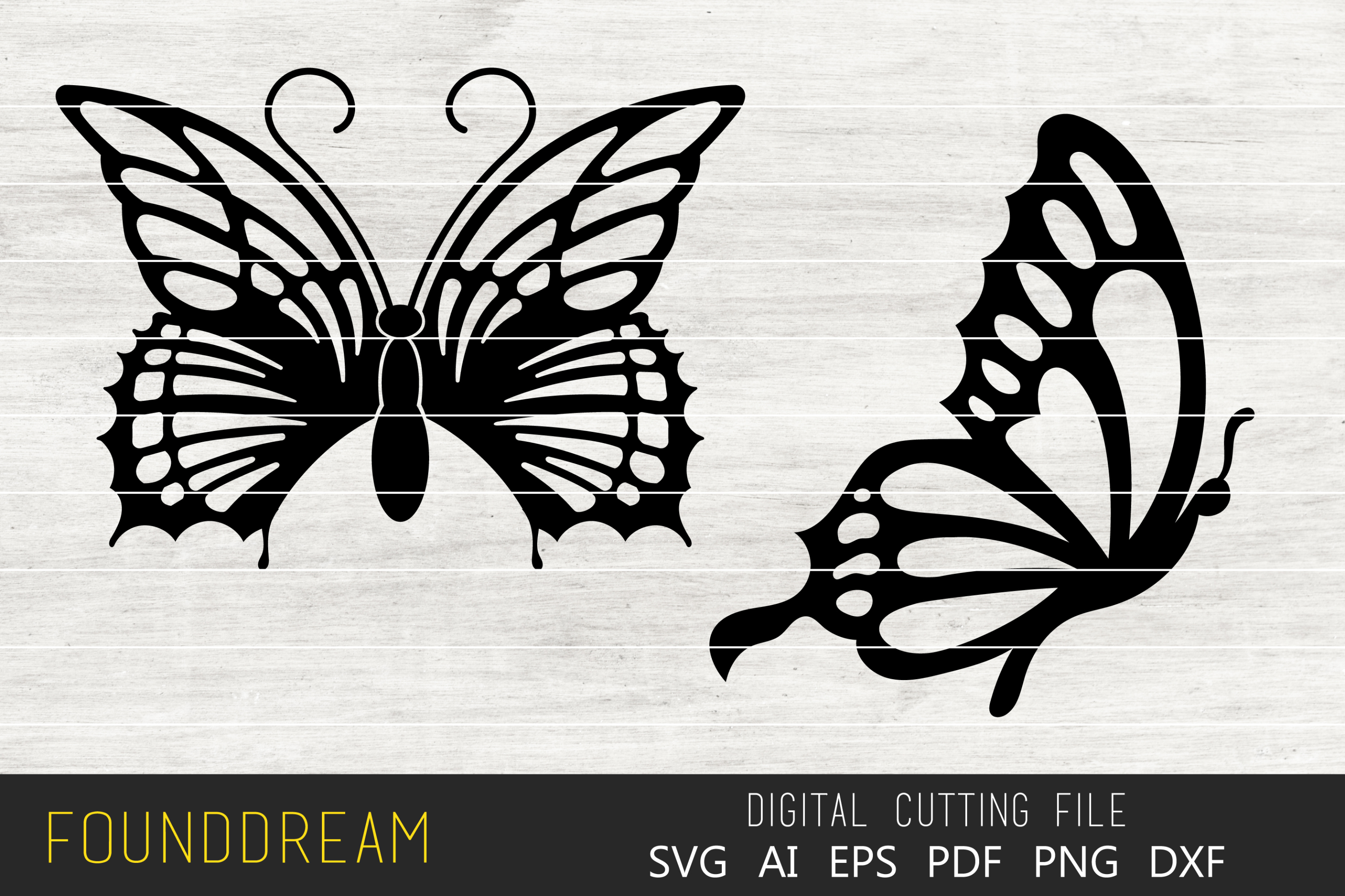 Download Free Butterfly Files Graphic By Foundream Creative Fabrica for Cricut Explore, Silhouette and other cutting machines.