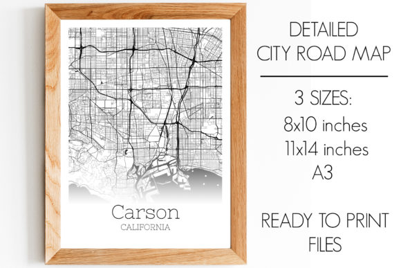 Print on Demand: Carson California City Map Graphic Photos By SVGExpress