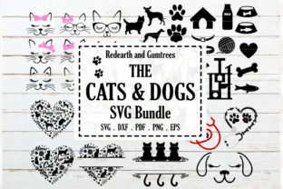 Cats and Dogs Bundle Graphic Crafts By redearth and gumtrees