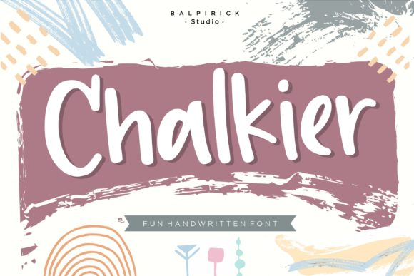 Print on Demand: Chalkier Script & Handwritten Font By Balpirick