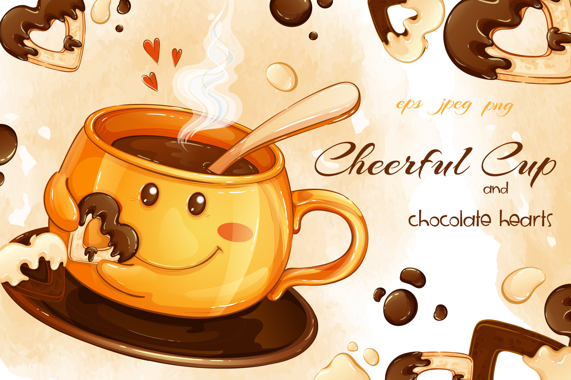 Download Free Cheerful Cup Graphic By Maycat Creative Fabrica for Cricut Explore, Silhouette and other cutting machines.
