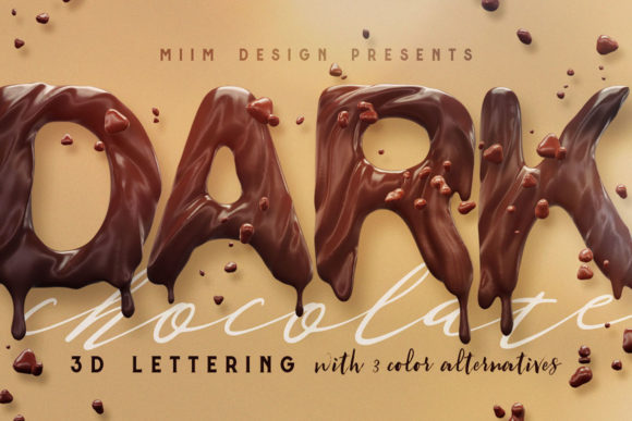 Print on Demand: Chocolate - 3D Lettering Graphic Objects By JumboDesign