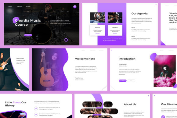 Download Free Chordia Music Powerpoint Template Graphic By Giant Design for Cricut Explore, Silhouette and other cutting machines.