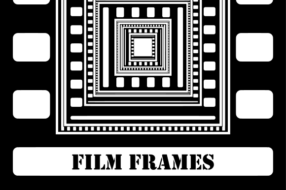 Print on Demand: Cinematic Film Frame Template Clipart Graphic Crafts By Prawny