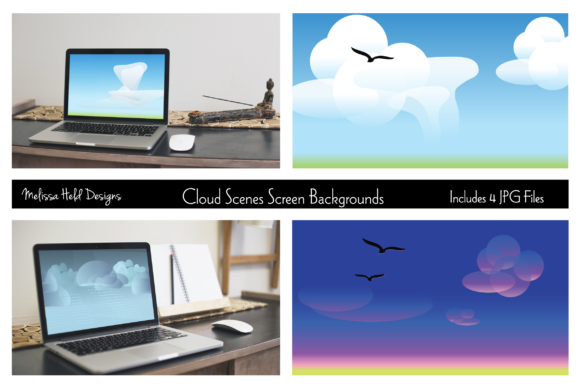 Cloud Scenes Screen Backgrounds Graphic Backgrounds By Melissa Held Designs