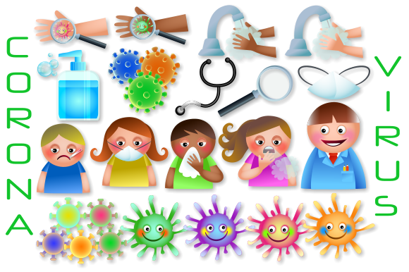 Print on Demand: Corona Virus Medical Health Clipart Graphic Illustrations By Prawny
