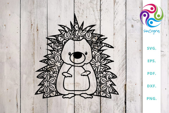 Download Free Cute Hedgehog Out Of Mandala Graphic By Sintegra Creative Fabrica for Cricut Explore, Silhouette and other cutting machines.