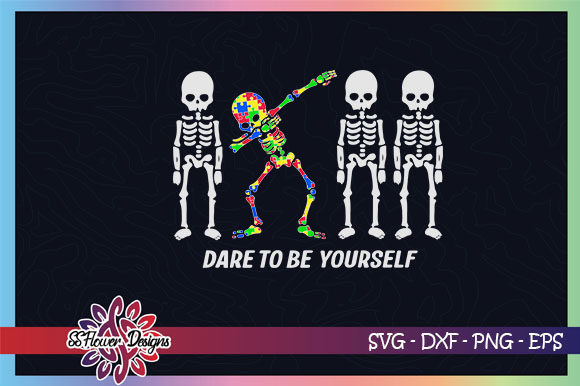 Download Free Dare To Be Different Dabbing Graphic By Ssflower Creative Fabrica for Cricut Explore, Silhouette and other cutting machines.