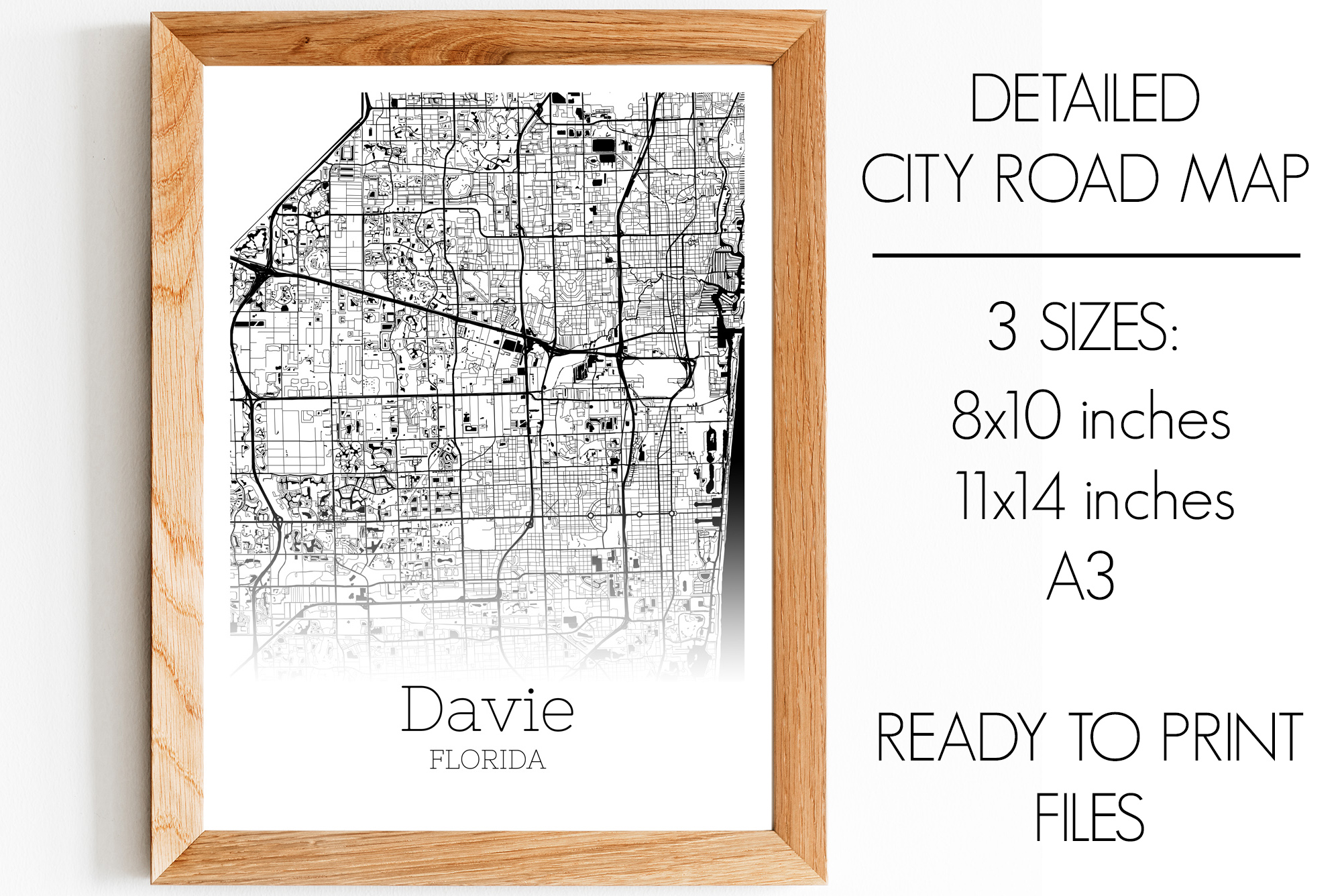 Download Free Davie Florida City Map Graphic By Svgexpress Creative Fabrica for Cricut Explore, Silhouette and other cutting machines.