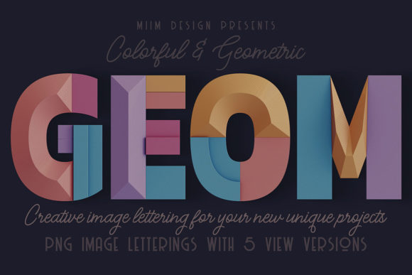 Print on Demand: Decorative Geometry - 3D Lettering Graphic Scene Generators By JumboDesign