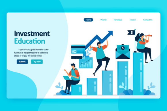 Print on Demand: Design for Investment Education Graphic Graphic Templates By setiawanarief111