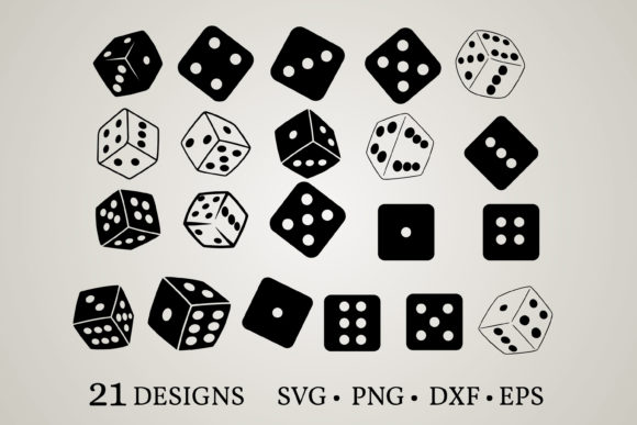 Download Free Dice Bundle Graphic By Euphoria Design Creative Fabrica for Cricut Explore, Silhouette and other cutting machines.