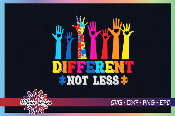 Different Not Less Hands Raising Graphic Crafts By ssflower