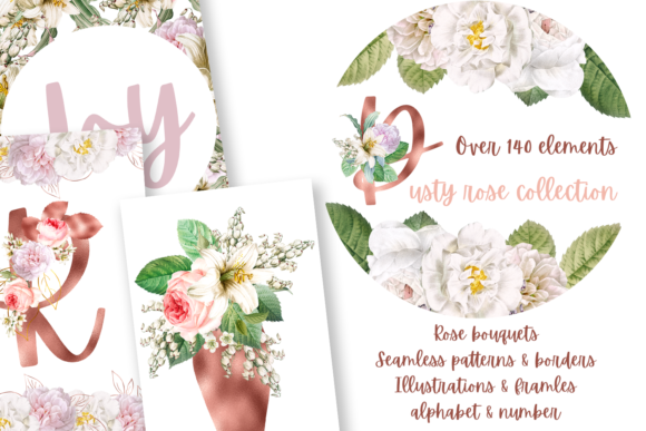 Print on Demand: Dusty Rose Collection Graphic Illustrations By Andreea Eremia Design