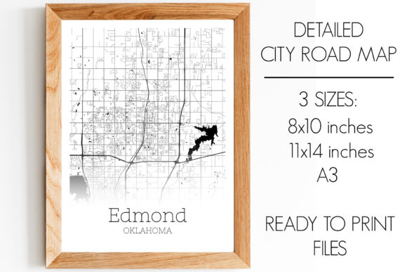 Download Free Edmond Oklahoma City Map Graphic By Svgexpress Creative Fabrica for Cricut Explore, Silhouette and other cutting machines.