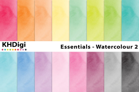 Download Free Essentials Watercolour 2 Digital Paper Graphic By Khdigi for Cricut Explore, Silhouette and other cutting machines.