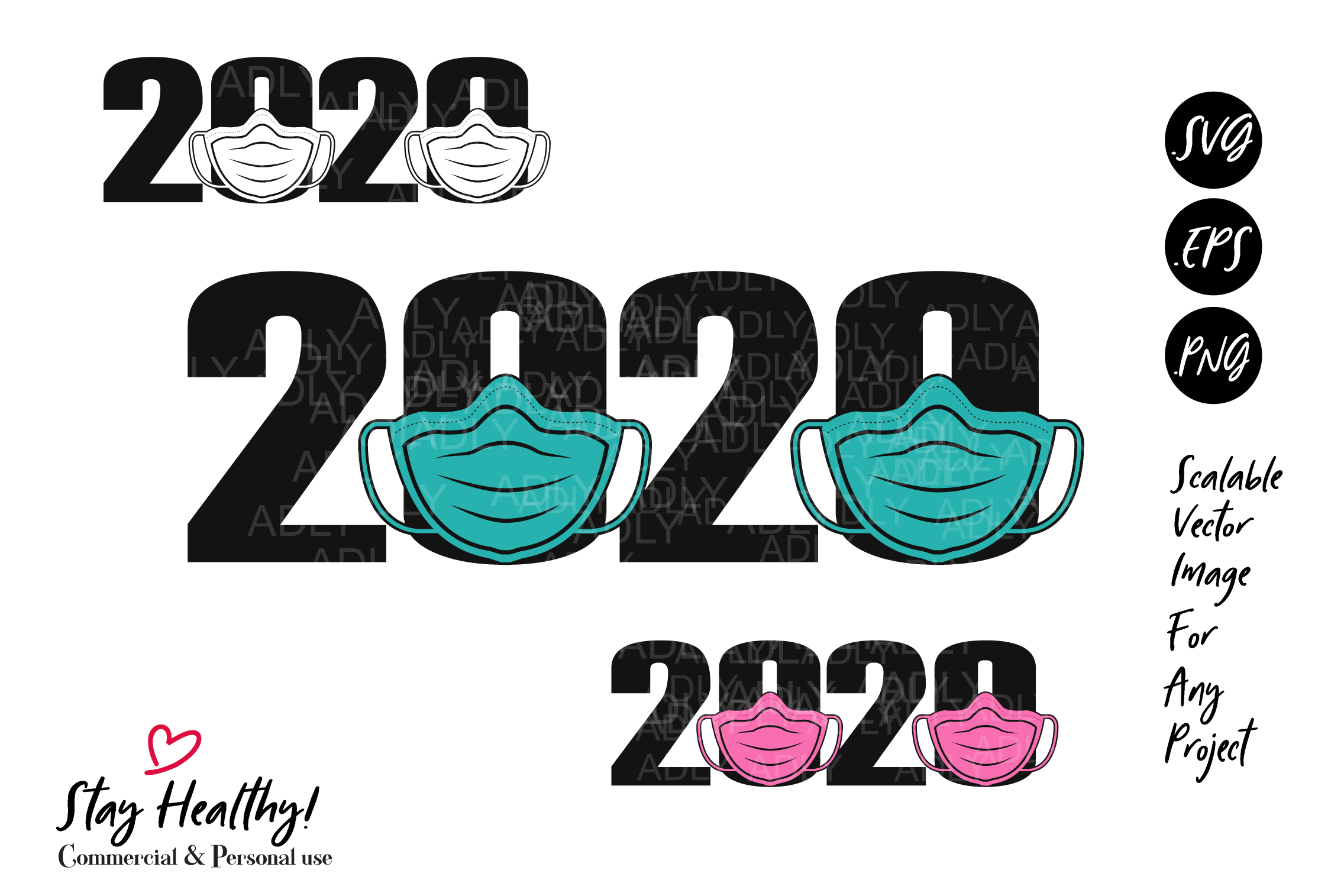 Face Mask 2020 Virus Design Sublimation Graphic By Adlydigital
