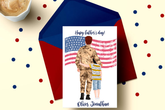 Father and Son Father's Day Clipart Graphic Illustrations By LeCoqDesign - Image 4