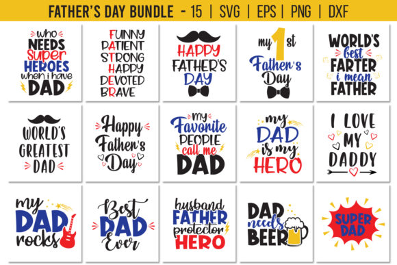Father's Day Bundle Graphic Crafts By All About Svg - Image 1