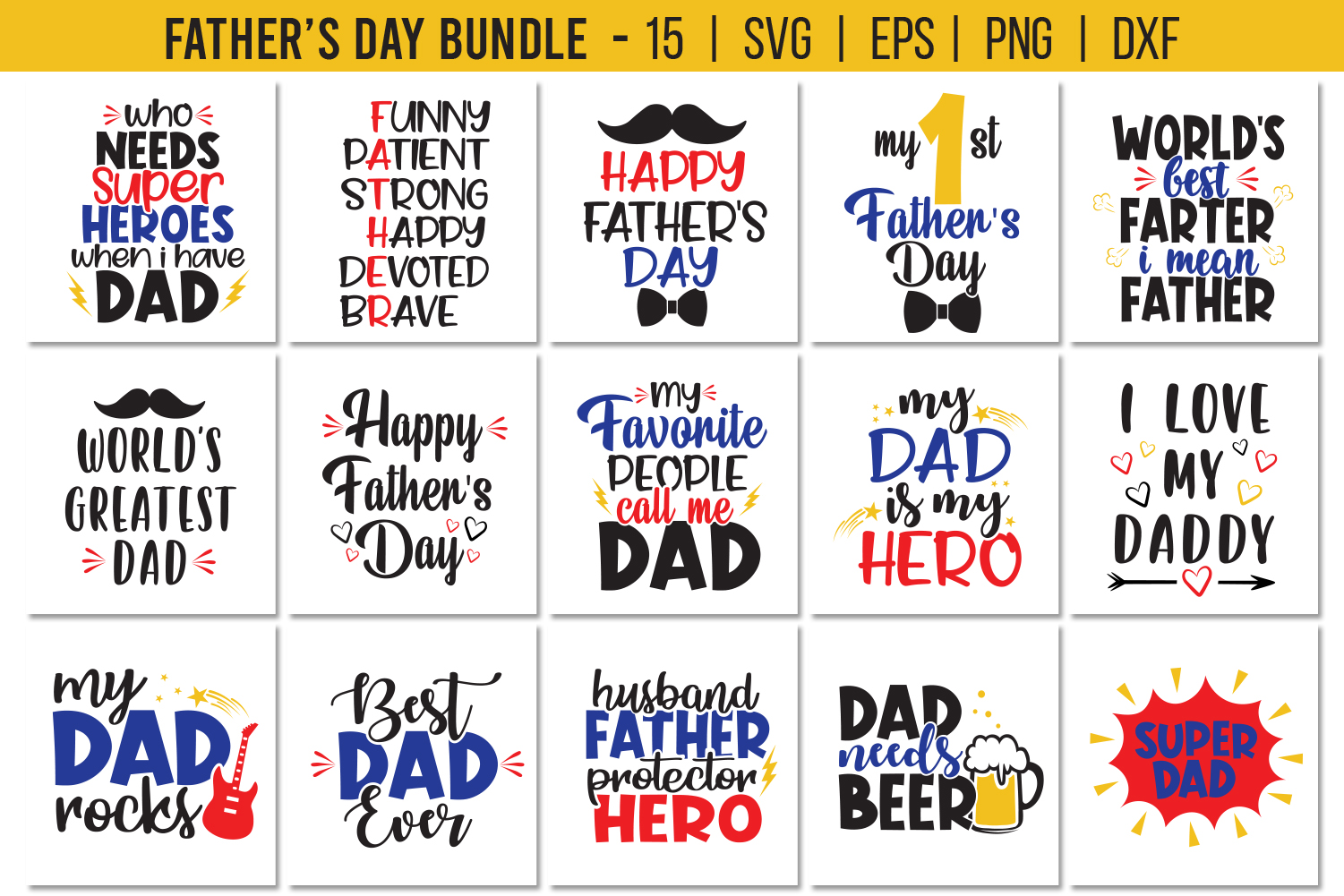 Download Free Father S Day Bundle Graphic By All About Svg Creative Fabrica for Cricut Explore, Silhouette and other cutting machines.