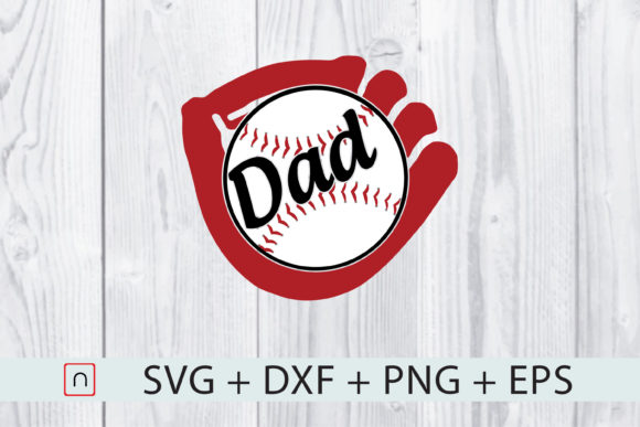 Download Free Father S Day Baseball Dad Softball Graphic By Novalia Creative for Cricut Explore, Silhouette and other cutting machines.